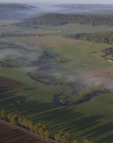 Vue aérienne Maxey-sur-Meuse ©Philippe Massit